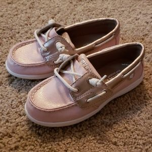 Toddler Pink Sperry Top Sliders